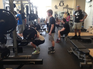 Oakdale students get fit for summer in the weight room.